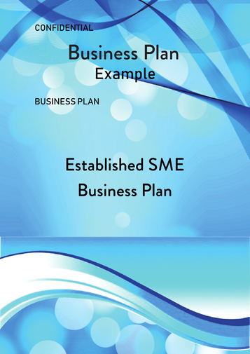 Established SME Business Plan Example Cover