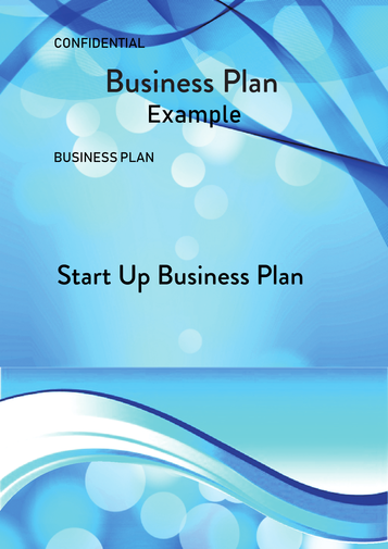 Start Up Business Plan Example Cover