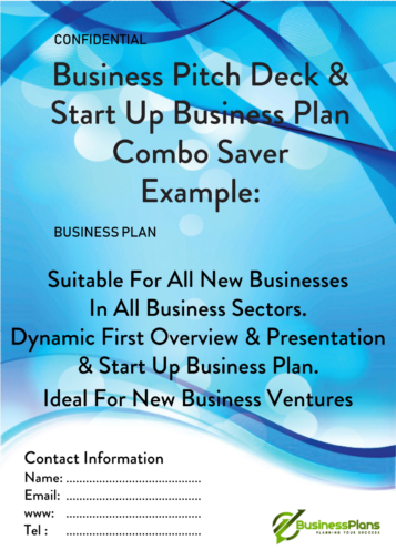 Pitch deck combo example plan