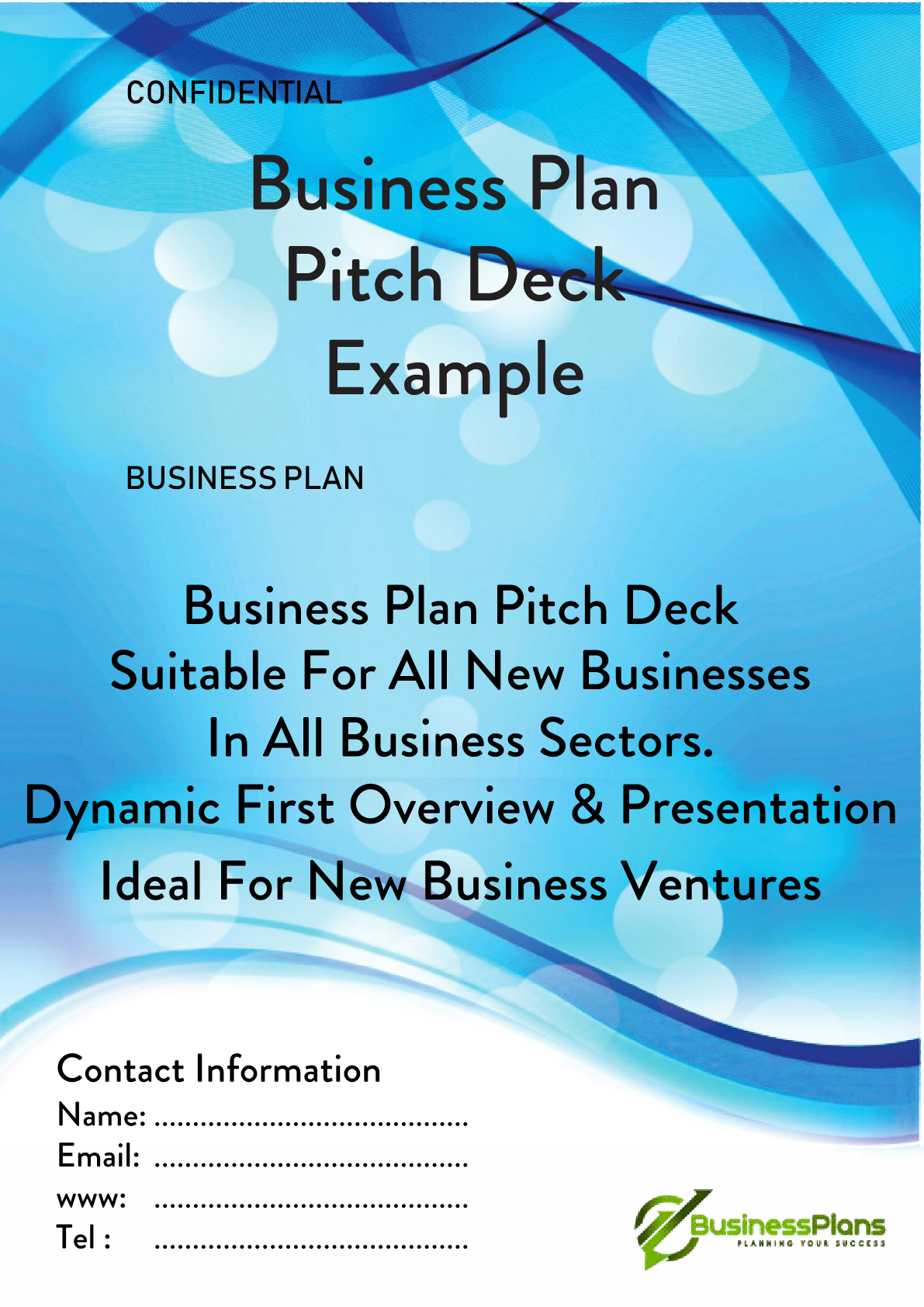 Pitch deck example plan